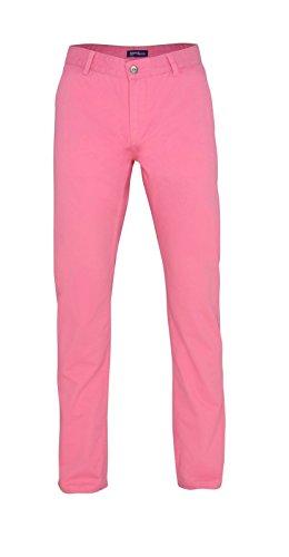 Herren Chino Hose in vielen Modefarben Sommerhose Herrenhose Pink Carnation