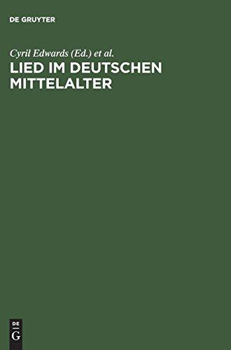Lied im deutschen Mittelalter: Überlieferung, Typen, Gebrauch. Chiemsee-Colloquium 1991