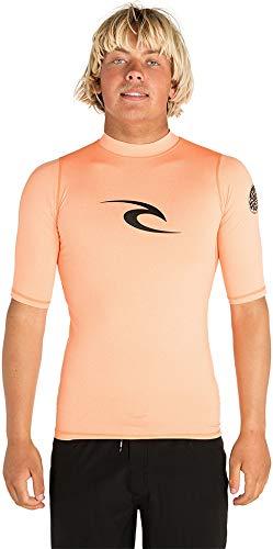 Lycra-top-t-shirts (RIP CURL Corpo Kurzarm UV T-Shirt Top Rash Weste Top Orange - UV-Sonnenschutz und SPF-Eigenschaften)