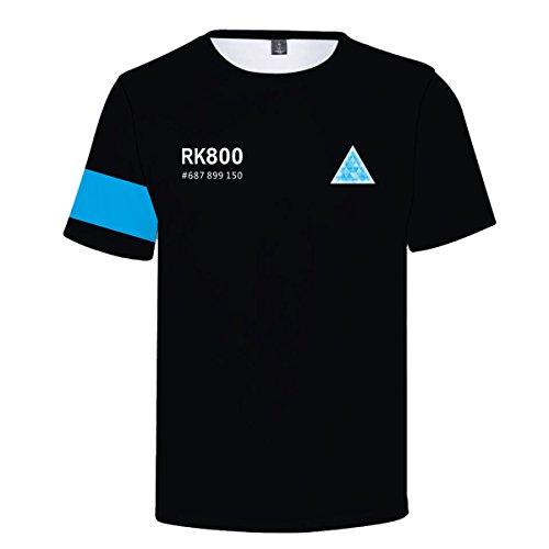 CTOOO 2018 Sommer Detroit Become Human Damen Herren T-Shirt Kurzarm Einfache Persönlichkeit Shirt Loose Fit XXS-XXXXL (Detroit Jacke)