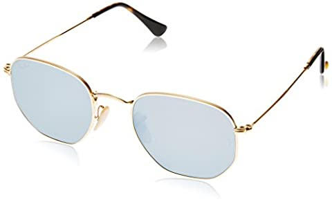 Ray-Ban RB3548N, Lunettes de Soleil Mixte, Or - Gold (Gestell: gold ,Gläser: grau 001/30), M (taille fabricant: 51)