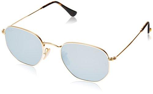Ray-ban rb3548n, occhiali da sole unisex-adulto, gold (gestell: gold ,gläser: grau 001/30), 51 mm