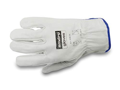 enviro Glove Rindnappaleder-Handschuh - Baustellen-Arbeitshandschuhe - Maurerhandschuhe - in Größe 11 im 12er Pack