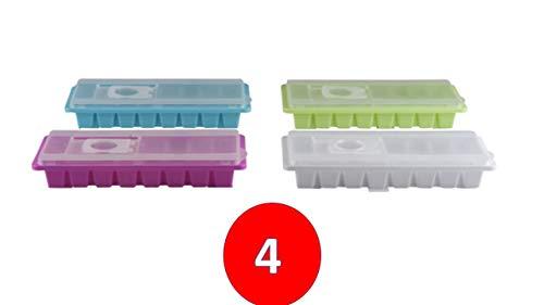 ice Eiswürfelbox mit Deckel aus Kunststoff, robuster Eiswürfelbehälter