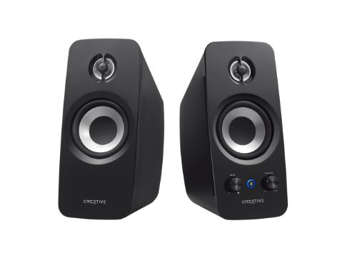 Creative T15 W Altoparlanti 2.0, Bluetooth, Attive Speaker, Aux-in 3.5 mm, Nero
