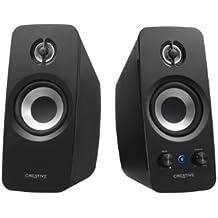 Creative T15 W Altoparlanti 2.0, Bluetooth, Attive Speaker, Aux-in 3.5 mm, Nero
