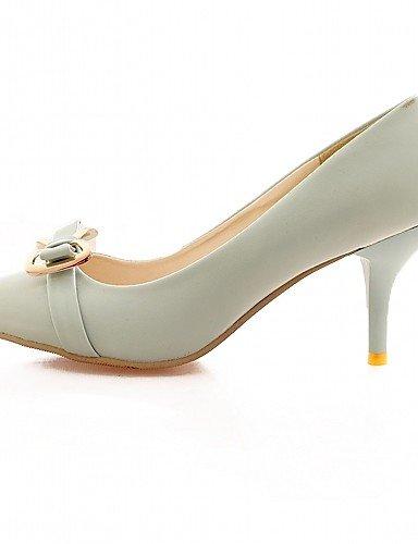 WSS 2016 Chaussures Femme-Bureau & Travail / Habillé / Décontracté-Bleu / Rose / Beige-Talon Aiguille-Talons-Talons-Similicuir beige-us6 / eu36 / uk4 / cn36