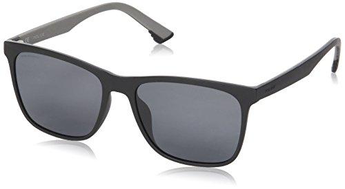 Police Sunglasses Herren Sonnenbrille Sketch 1, Schwarz (Semi-Matt Black), 55