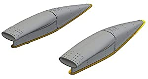 Eduard EDB648301 - Kit de Ingesta de crusor de latón 1:48 - F-8E (Hasegawa), Varios