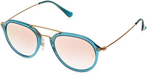 Ray Ban Unisex Sonnenbrille RB4253, Mehrfarbig (Gestell: türkis,Gläser: Kupfer 62367Y), Small (Herstellergröße: 50)
