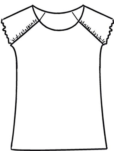 maxana Frau Silber und Weiß Bluse–Fancy Design–�?5/70cm Silber