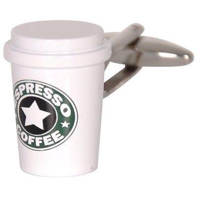 Espresso Coffee Cup Cufflinks Morning Office Gift by ProCuffs