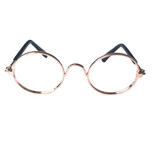 MA87 Niedliches Hundekatzen-Mode-Sonnenbrille-Haustier für Haustier-kleine Hundefotos-Props-Spaß (Gold)