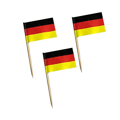 Black Temptation National Flag Cocktail-Picks 200 Packs Aperitif Zahnstocher - Deutschland
