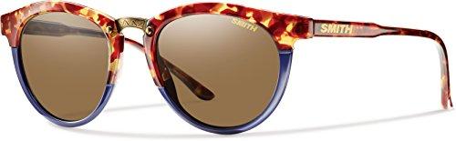 Smith Erwachsene Sportbrille Questa Sonnenbrille, Blau (Tortoise Bluette/Brown), 50