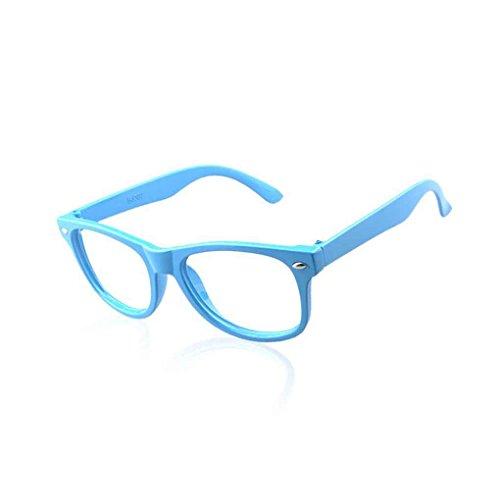 Meisijia Gläser Jungen Mädchen Kinder Kunststoff Leere Rahmen Brillen
