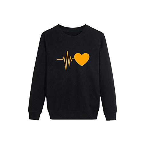 BaZhaHei 2018 Damen Langarm Mode Frauen Herbst Langarm Herz Printed Sweatshirt Pullover Bluse Tops...