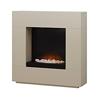 Adam Alton Fireplace Suite in Cream with Electric Fire, 36 Inch