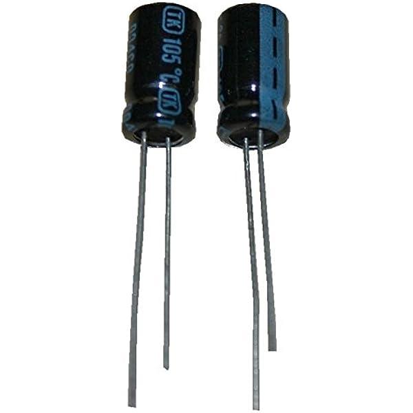 Elko Elektrolytkondensator Kondensator 100uf 35v 105 C 2 Stück 0025 Spielzeug