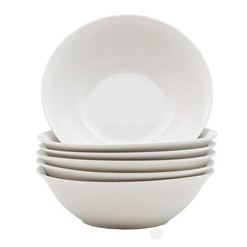 St @ llion bianco zuppa ciotola di pasta cena voce in porcellana bianca (confezione da 6) 178mm (7
