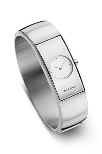 Jacob Jensen Damen Analog Quarz Uhr mit Edelstahl Armband 470