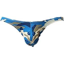 Ba Zha Hei-Calzoncillos para Hombre de Moda Ropa Interior de Estampado de Camuflaje Bombeo Ropa Interior Underwear Bulge Camouflage Print Sports Underpants Tangas Térmicos Camisetas Interiores