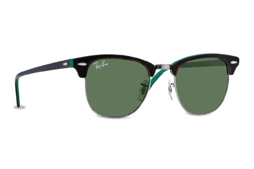 ray-ban-sonnenbrillen-rb-3016-clubmaster-rb3016-1127-metal-acetate-plastic-brown-green-grey