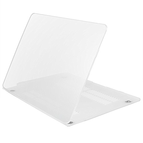 iDOO Funda dura con acabado mate [Para Macbook Air 13 Pulgadas: A1369 / A1466] - Transparente