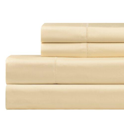 Celeste Home 610Fadenzahl Pima-Baumwolle Kissenbezüge, Standard, cremefarben