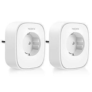 Presa Smart WiFi 16A 3680W Presa Intelligente TECKIN Spina Energy Monitor, Compatibile con Alexa Echo e Google Home…