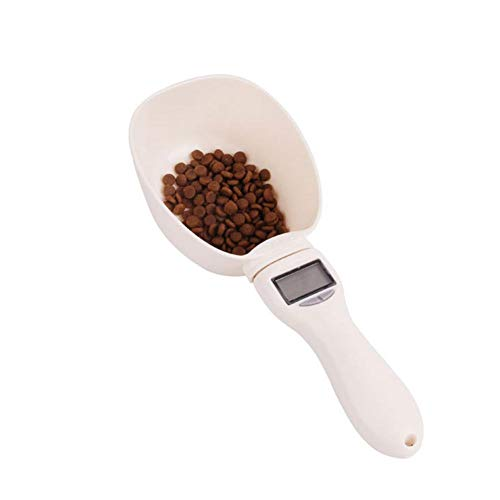 raspbery Comida para Mascotas Cuchara de medición ABS Desmontable Mascotas Comida para Perros/Gatos Escala Digital Cuchara de medición Tazas de medición precisas con Pantalla LCD