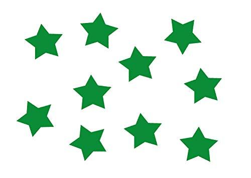 10x Bügelbild Bügelbilder Aufnäher Patch Miniblings 25mm GLATT Stern alle Farben, Farbe:grün