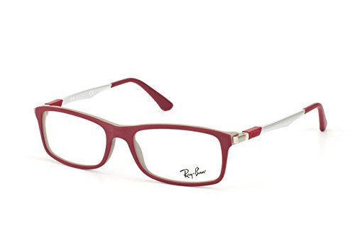 Rayban Unisex Acetate Maroon Rectangle Full Rim Frame (Rayban-RB7017-5198)  available at amazon for Rs.4893