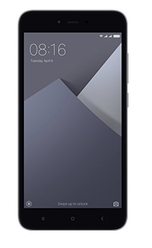 """Xiaomi Redmi Note 5A - Smartphone libre de 5.5"""" (4G, WiFi, Bluetooth, Snapdragon 425 1.4 GHz, 16 GB de ROM ampliable, 2 GB de RAM, cámara de 13 Mp, Android MIUI, dual-SIM), gris [versión española]"""