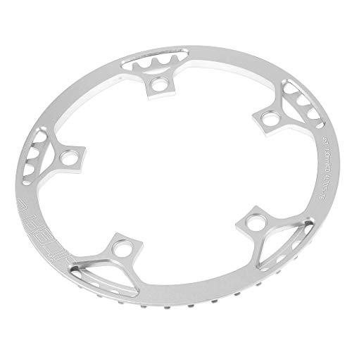 CUTICATE Kettenblatt 45/47/53/56/58/ Zähne 5-Arm MTB Chainring Kettenschutzring - Silber 45T