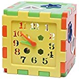 Futurekart™ Educational All In ONE Blocks Set - Multi-Skill: Colors, ABC, Clock, Blocks, Puzzle And Much More