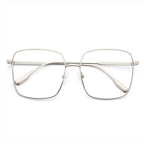SUHXS Brillengestell Rundes Gesicht Quadratisches Großes Gestell Brillengestell Anti-Blaues Licht