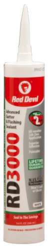red-devil-0990-rd-3000-advanced-gouttiere-mastic-clignotant-blanc-9-ml