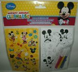 Disney Character Color-In Sticker Set - Mickey Mouse Clubhouse - Featuring Mickey Mouse, Minnie Mouse, Donald Duck & Goofy!