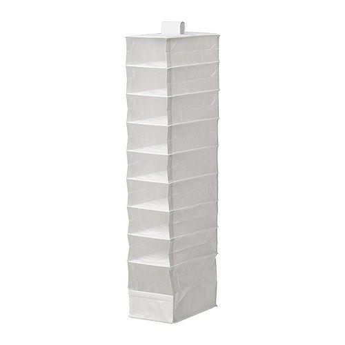SKUBB–Kleidung Aufbewahrungsbox Mit 9Fächern, weiß