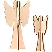 Engel Set aus Holz, Holzdeko, Weihnachtsdeko, Weihnachtsengel