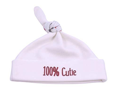 Cutie 3 Stück (For Babies - Baby Neugeborene Mütze mit Knoten - Mädchen und Jungen - Erstlingsmütze - 100% Bio-Baumwolle - Made in EU (100% cutie, 0-3 Monate))
