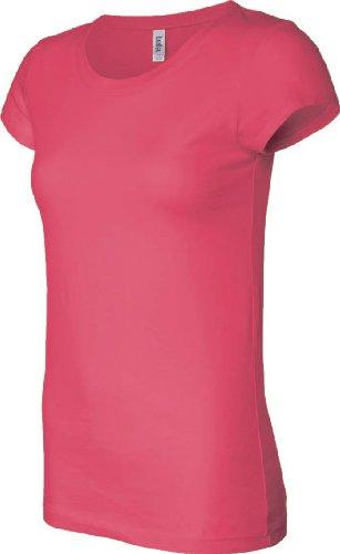 Bella Sheer Rib V-Neck T-Shirt Raspberry