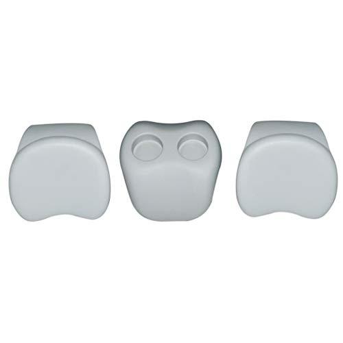 Tidyard MSpa Comfort Set 2 Kopfstützen 1 Getränkehalter B0301350,weiches Silikon Weiß -