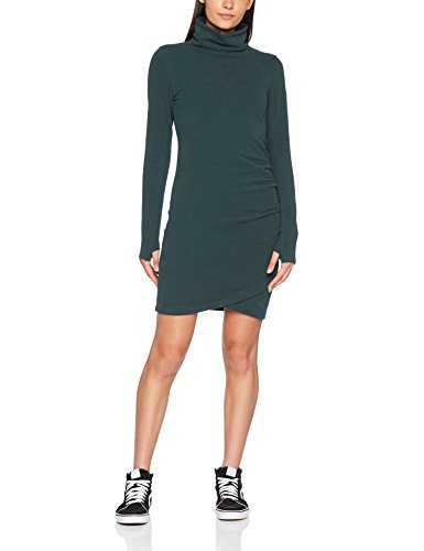 Bench Damen Kleid Slim Funnel Dress, Grün (Dark Green Gr163), Medium (Damen Bench)