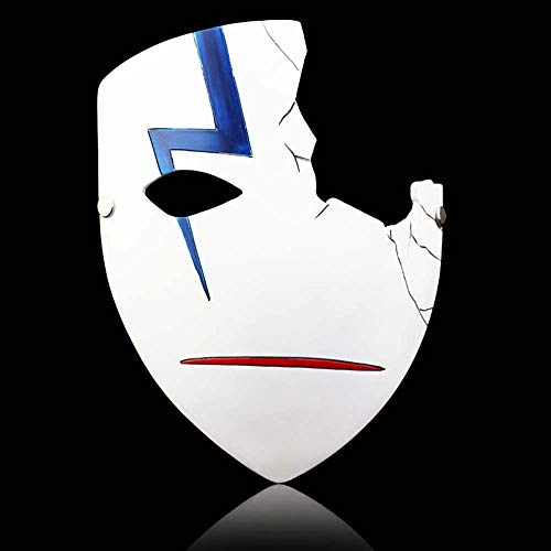 lack Resin Mask Cosplay Halloween Ornaments Anime Character Mask (Half face) ()