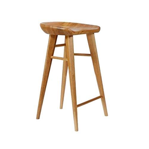 JJJJD Barhocker Barhocker, Massivholz Haushalt Einfach Freizeit Hocker Barhocker Stuhl Esszimmerstuhl Cafe Stuhl Arbeitsstuhl Sitzhöhe 65cm (Color : A)