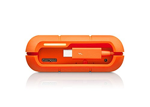 LaCie Rugged Raid - 4 TB (2 x 2 TB),  externe tragbare Festplatte; Raid 0 & Raid 1, USB 3.0. Thunderbolt - STFA4000400