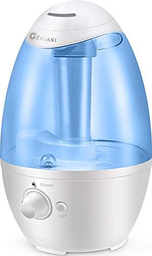 Umidificatore ad ultrasuoni a spruzzo freddo - Miglior umidificatore per camera da letto/soggiorno/bambino - Soluzione per tutta la casa - Grande serbatoio per l'acqua da 3 litri