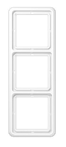 Jung Rahmen 3fach, alpinweiß Steckerrahmen Steckdosenrahmen